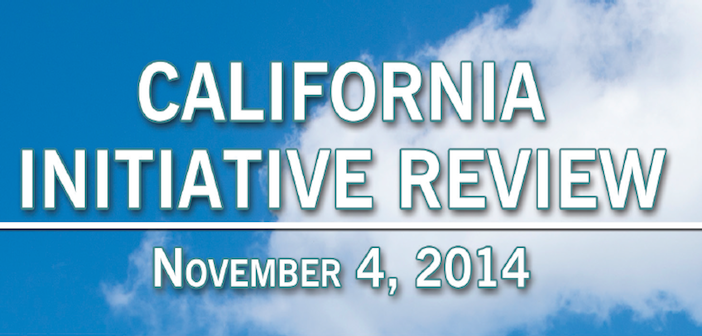 California Initiative Review – 2014